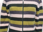 Dámský svetr propínací zip, 48